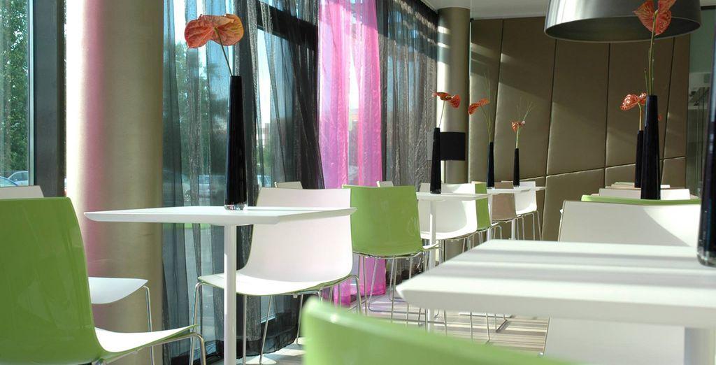 Con interiores modernos y de diseño