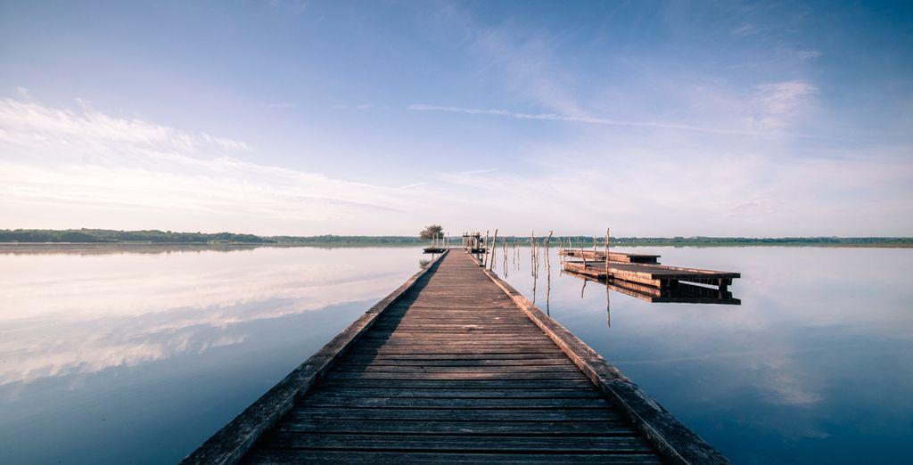 Y de bellos amaneceres en los alrededores del lago Soustons