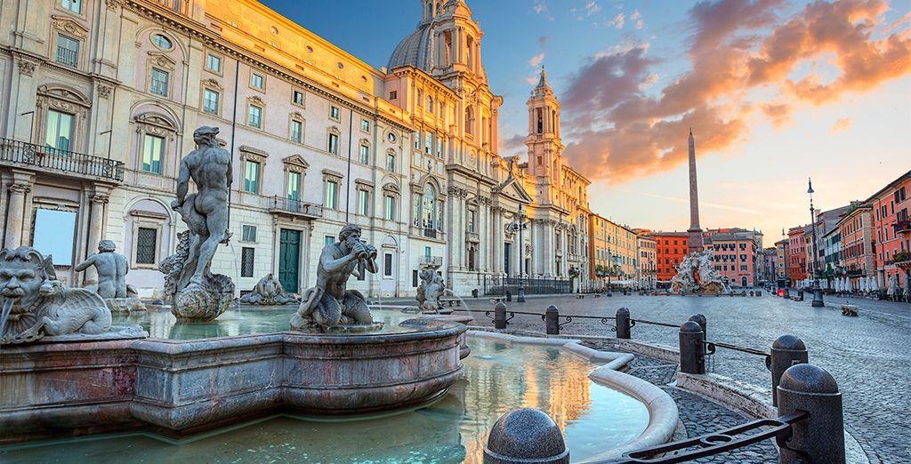 Las vacaciones en Roma que estaba esperando