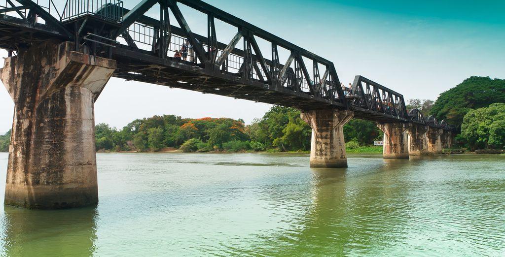 """Realizarás un paseo en el """"Tren de la Muerte"""" sobre el Río Kwai"""