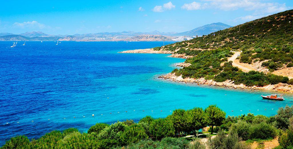 Bodrum se encuentra en la confluencia entre el Egeo y el Mediterráneo