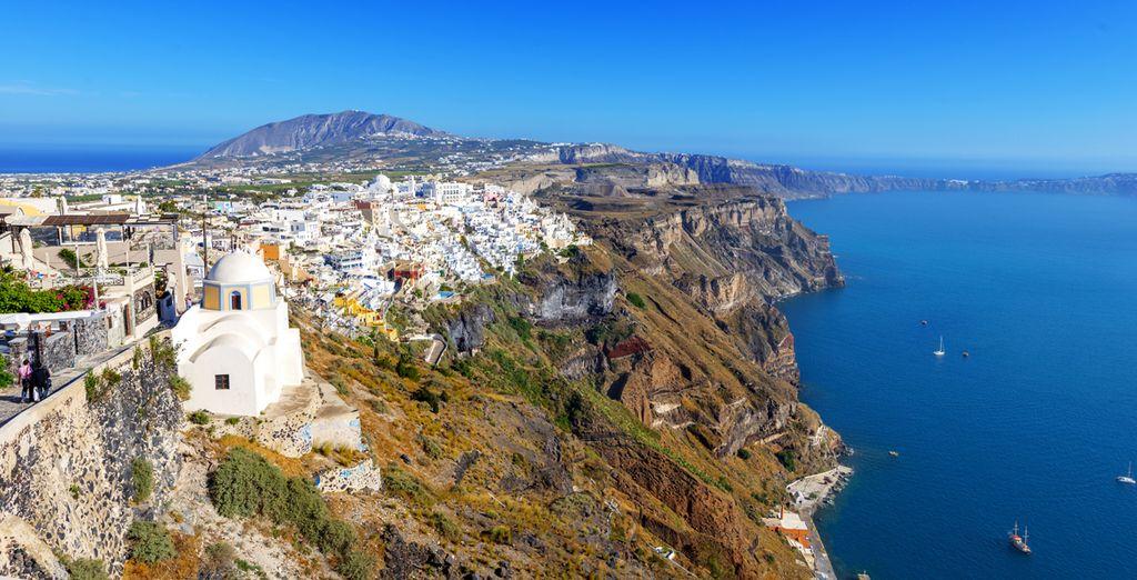 Santorini, una isla volcánica en pleno Mediterráneo