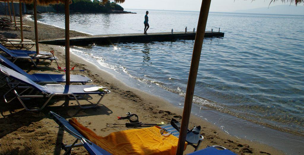 La playa está muy cerca del hotel