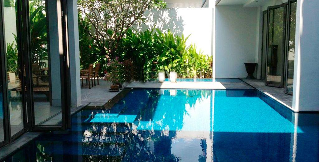 Con piscina privada, todo un lujo a su alcance
