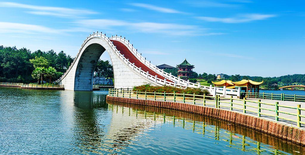 La moderna ciudad de Suzhou