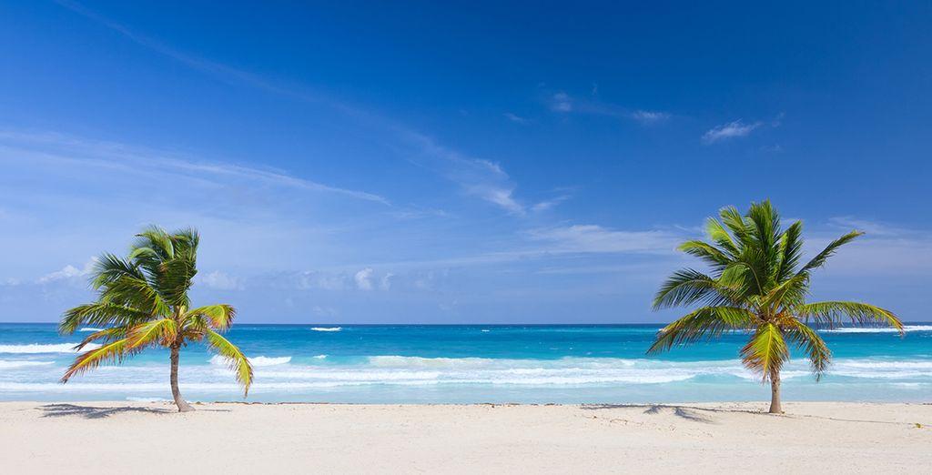 Playas infinitas de arena blanca