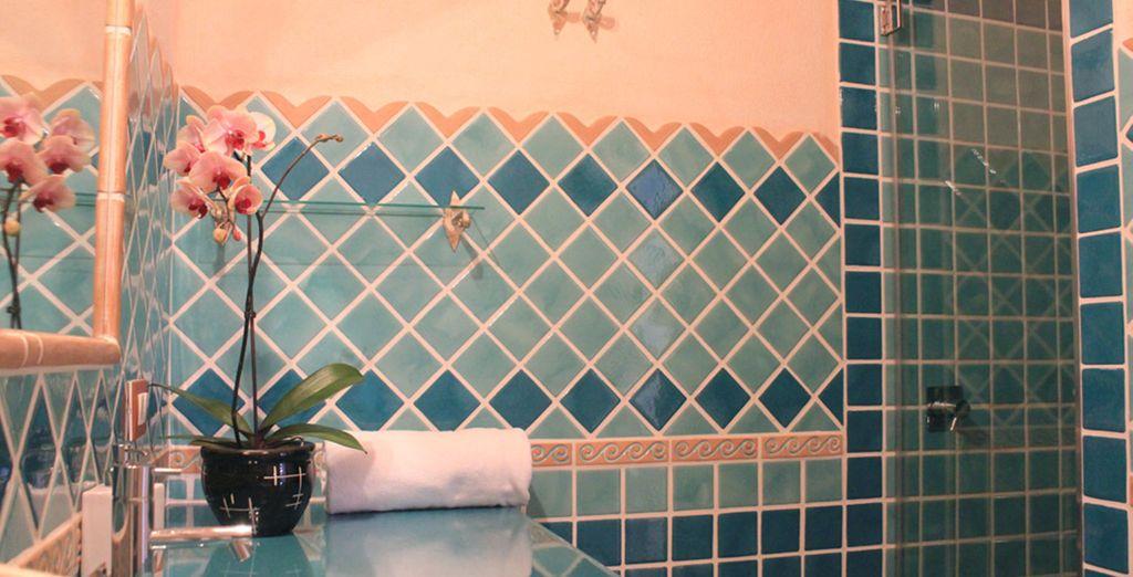 Un baño totalmente equipado