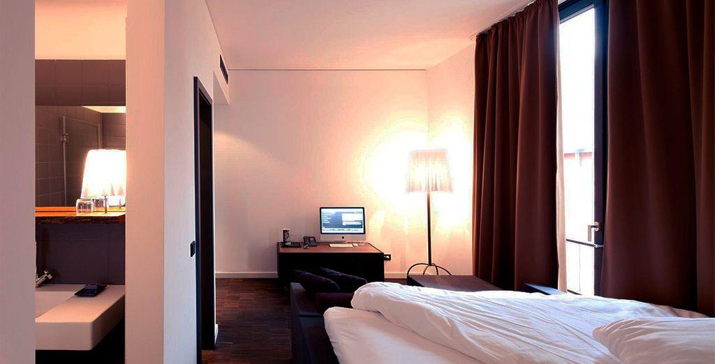 Una estancia amplia y moderna