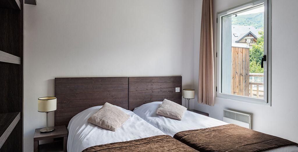 Descanse en sus confortables camas