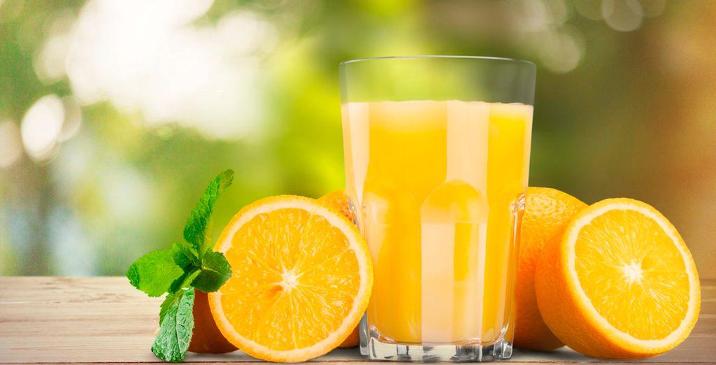 Disfrute de un auténtico zumo de naranja natural el primer día