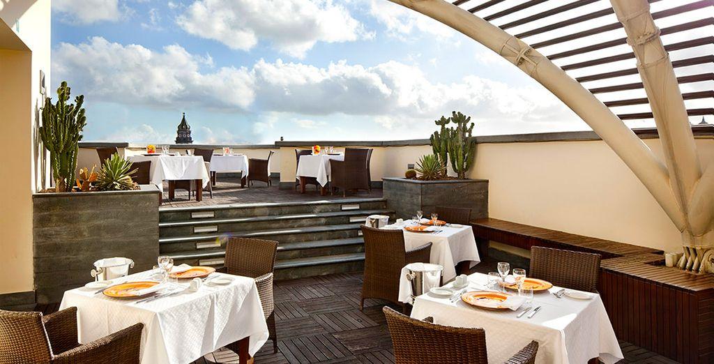 Una preciosa terraza donde disfrutar de una velada