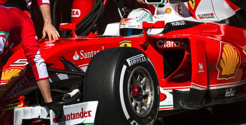 ¡Aproveche esta oportunidad para estar más cerca de la Formula 1 que nunca!