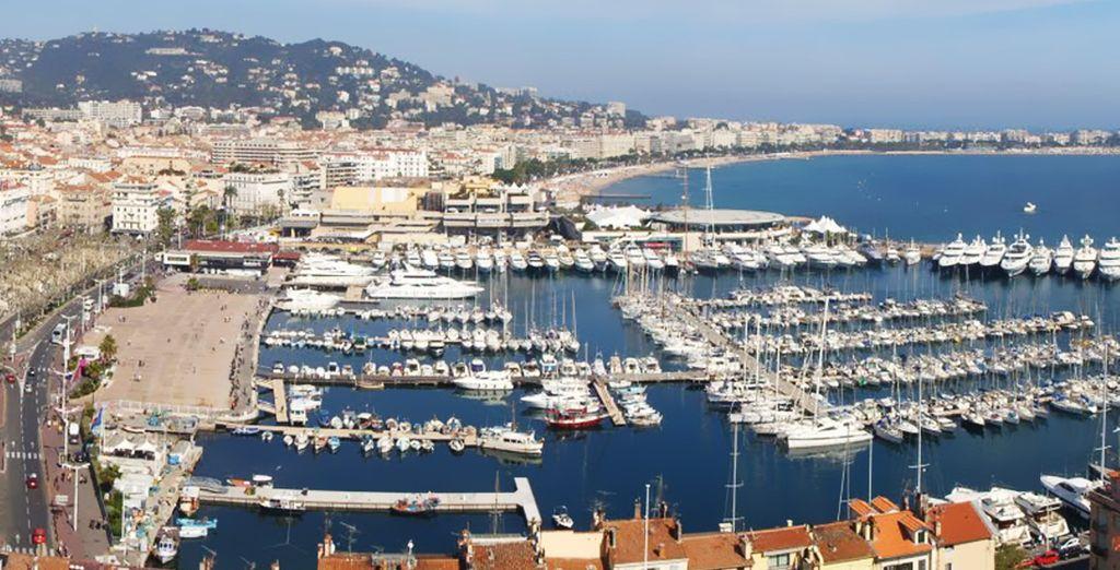 El famoso puerto de Cannes