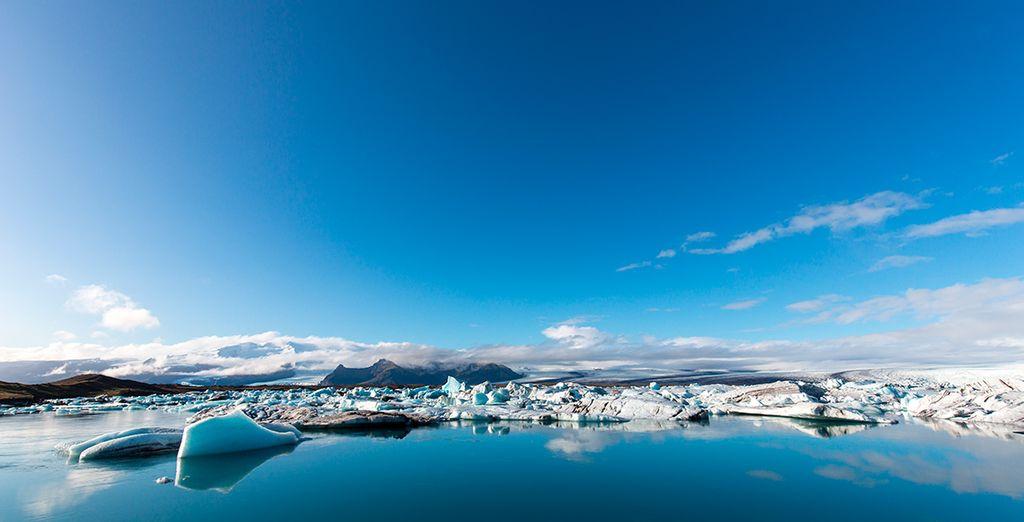 El espectacular glaciar de Jökulsárlón será otra de las paradas