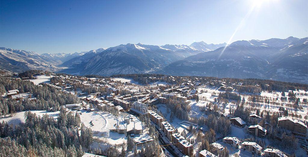 Ubicado en Crans Montana en una de las mejores estaciones de ski de Suiza