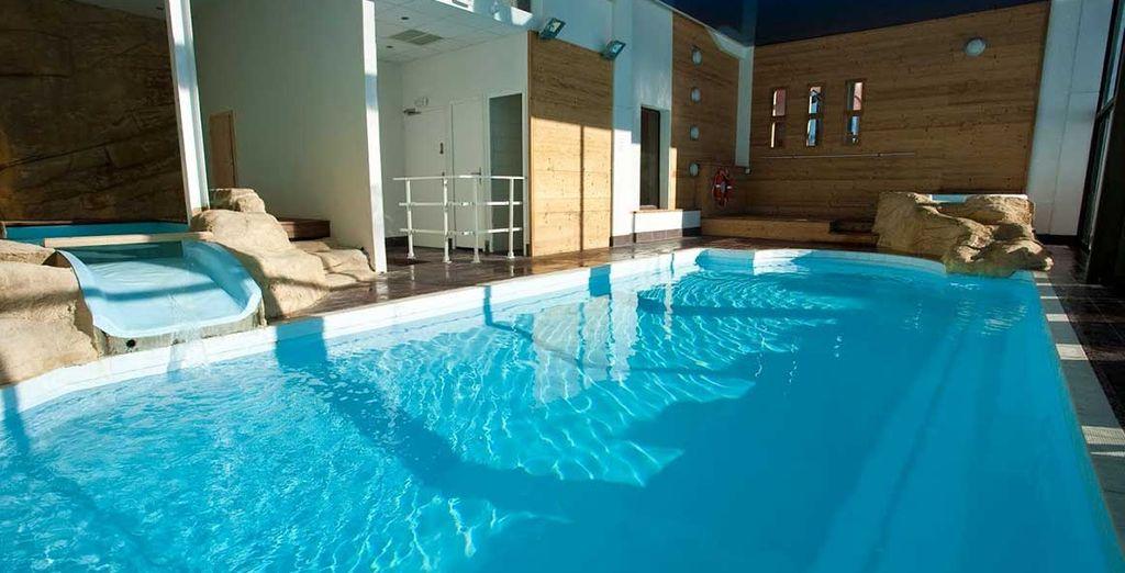 Momentos de tranquilidad te esperan en su piscina