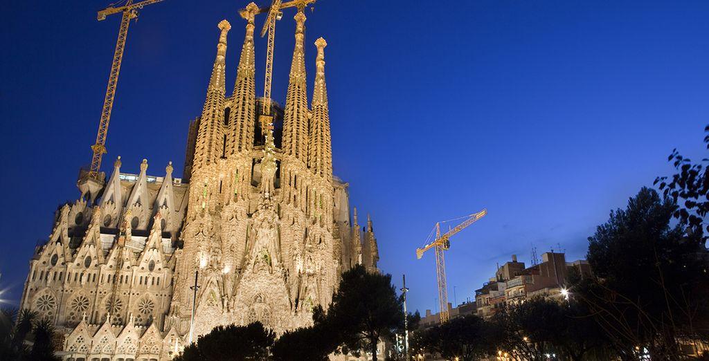 La Sagrada Familia, declarada Patrimonio de la Humanidad, una de las más famosas obras de Barcelona