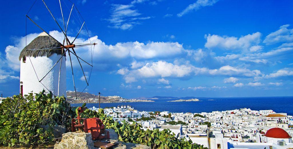 Descubra los famosos molinos de viento de la isla