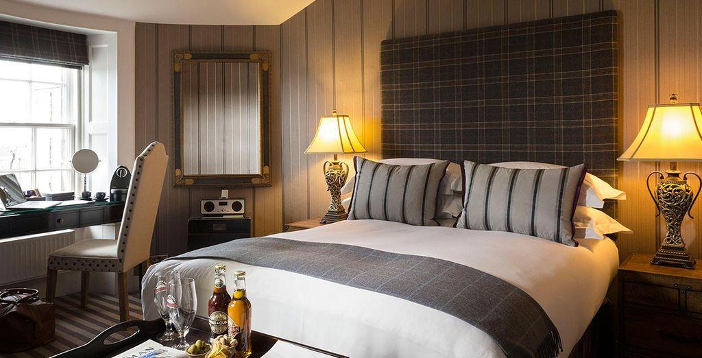 Ou bien en chambre Petite Double, idéale pour un court séjour romantique...