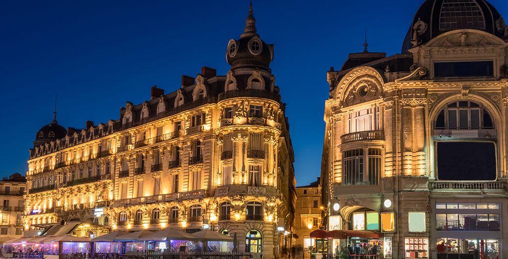 Depuis votre lieu de résidence, vous pourrez visiter Montpellier et la place de la Comédie