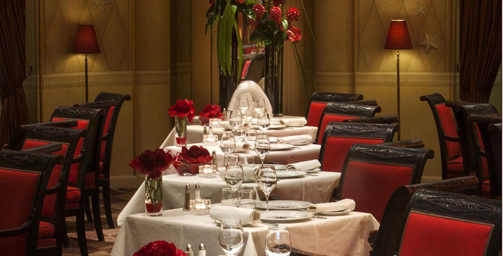 Puis le soir, enchantez vos papilles au restaurant de l'hôtel