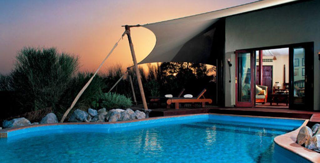 La piscine de la Suite Bedouin - Al Maha Desert Resort & Spa ***** Dubai