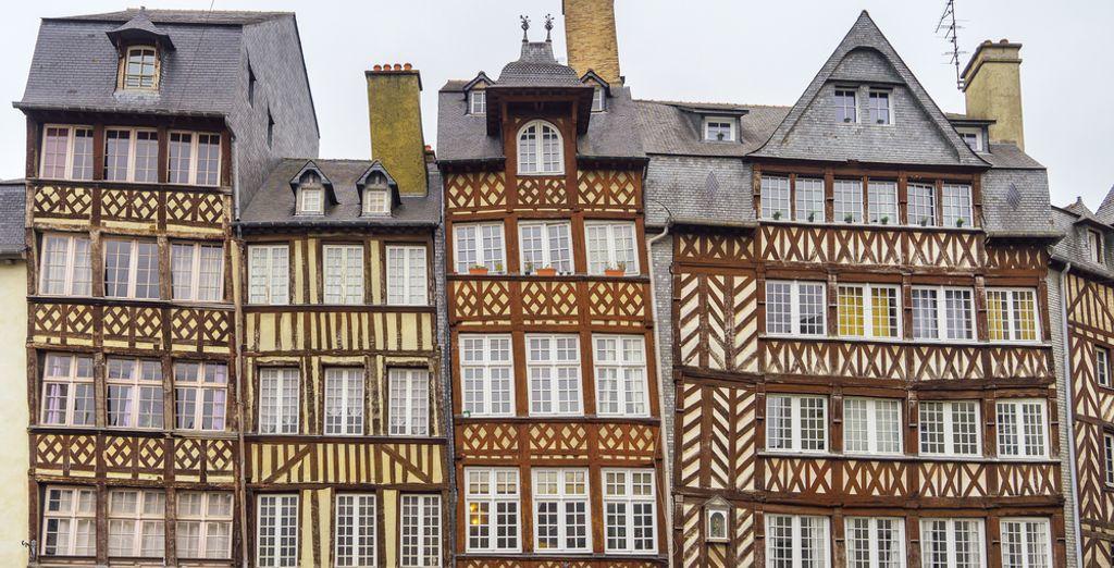 Photographie de la ville de Rennes et ses architectures