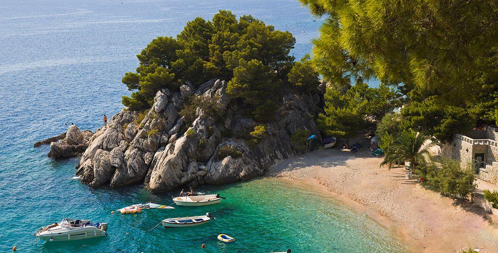 Photographie d'une des plages de Croatie
