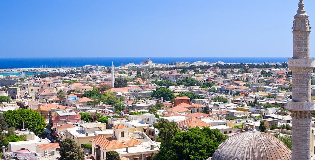 Au départ de l'île de Rhodes...