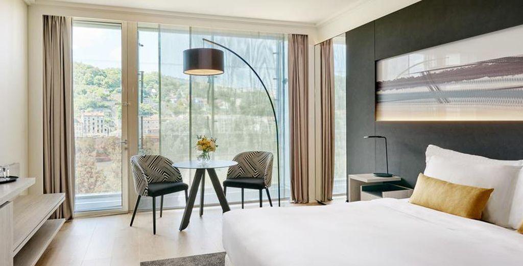 Et si vous posiez vos valises dans la chambre Deluxe de l'hôtel Lyon Marriott Cité Internationale ?