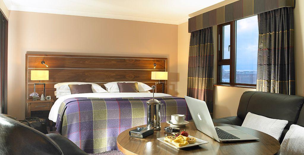 Vous poserez vos valises en chambre King Size, pour un séjour des plus confortables