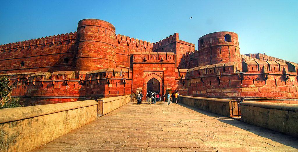 le Fort Rouge d'Agra, inscrit à l'UNESCO...