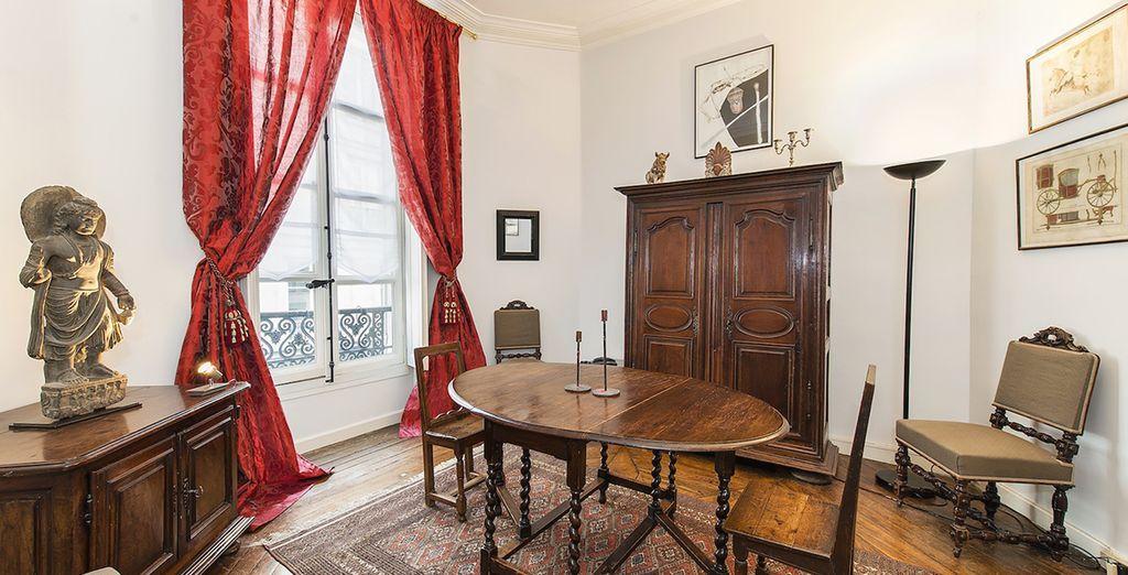 Le coin salle à manger - Appartement au Marais pour 4 personnes (160m2) Paris