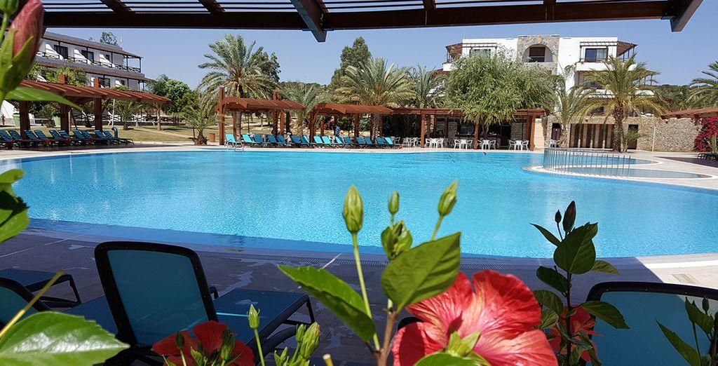 Hôtel de luxe avec piscine et espace détente à Chypre