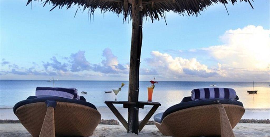 Pour des moments de détente, face à l'océan Indien