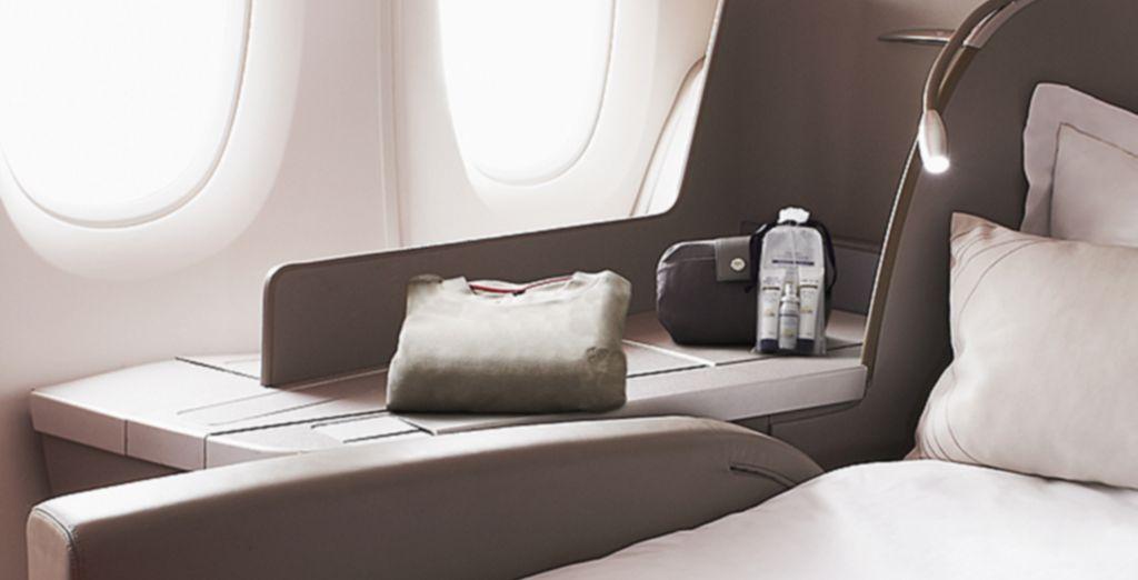Votre fauteuil se transforme en un véritable lit de 2 mètres...