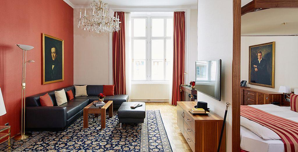 Hôtel haut de gamme avec chambre double tout confort au cœur de Vienne, en Autriche