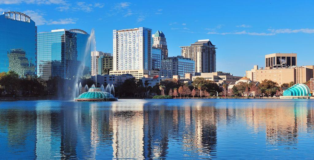 Photographie de la ville de Orlando et de ses grattes-ciels
