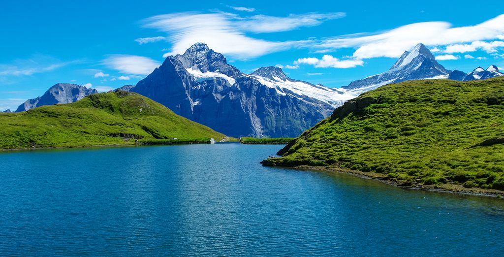 Paysage des Alpes en Suisse