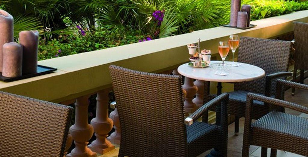 La terrasse du bar