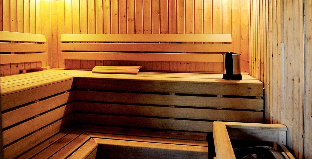 Et offrez-vous une pause détente au sauna