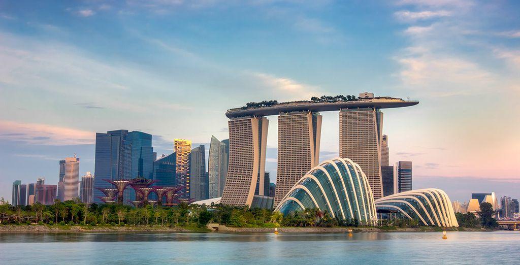 Vue d'ensemble de la ville de Singapour, découvrez la ville avec nos voyages tout inclus