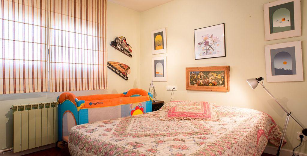 La première chambre avec lit double