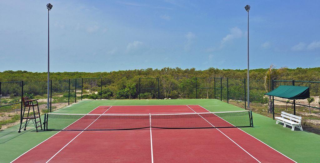 Partie endiablée de tennis...
