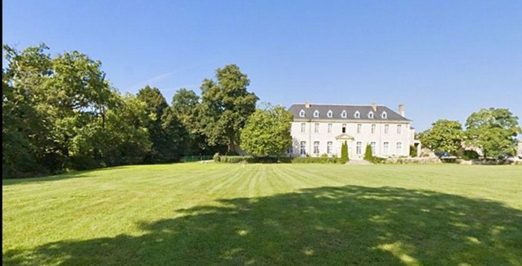 Le grand parc de l'hôtel - Abbaye de Villeneuve Les Sorinieres