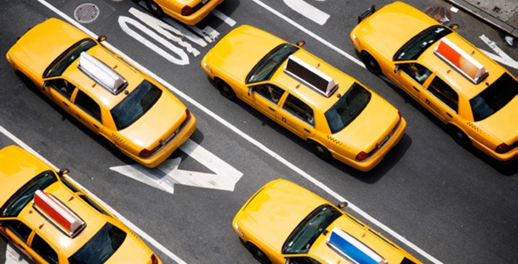 Les célèbres taxis jaunes new yorkais