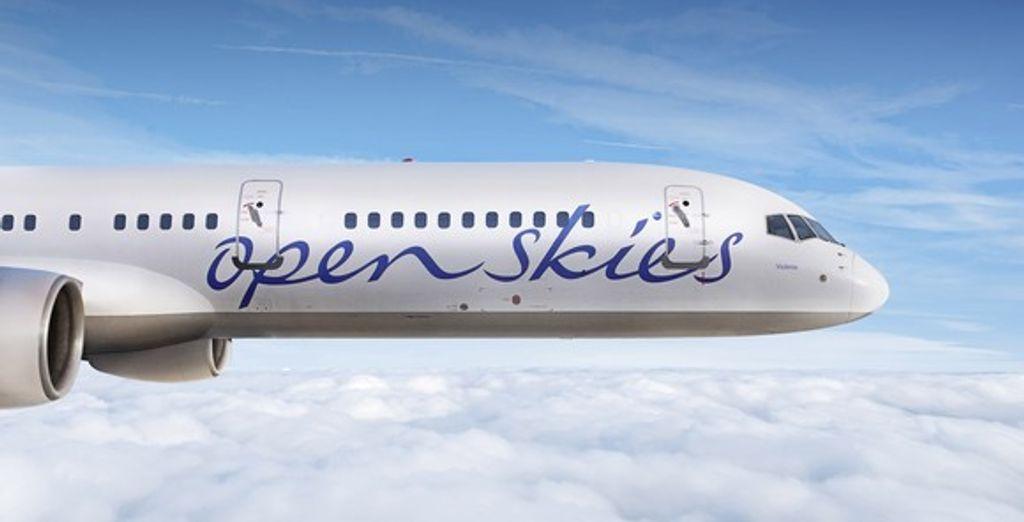 L'un des avions de la compagnie OpenSkies