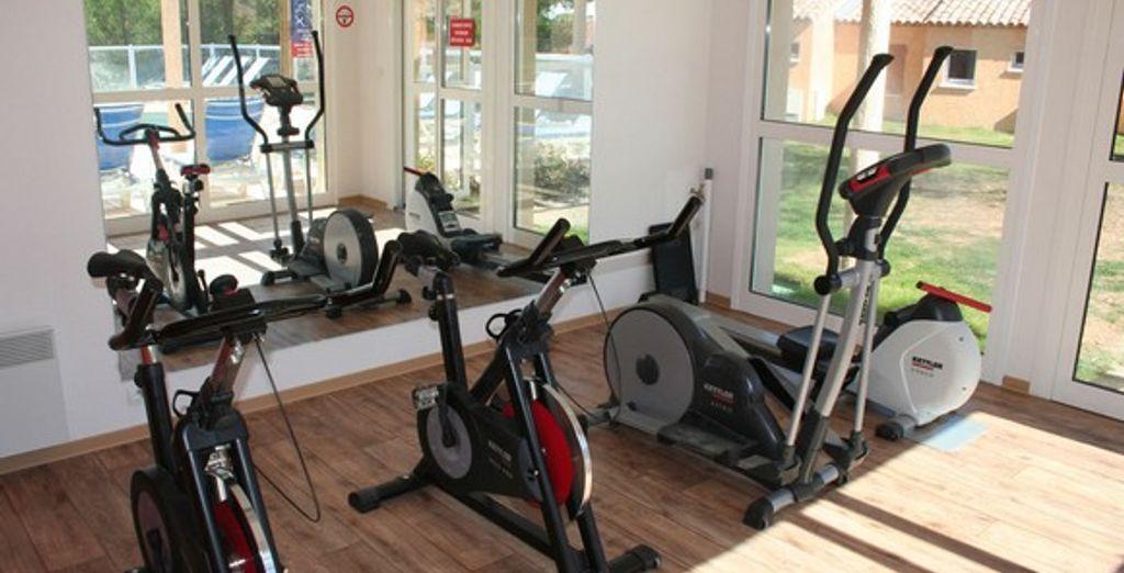 Avec salle de fitness