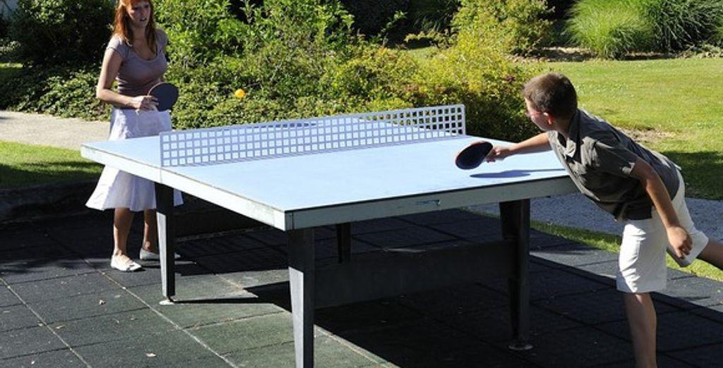 ou lancez-vous dans une partie de ping-pong !