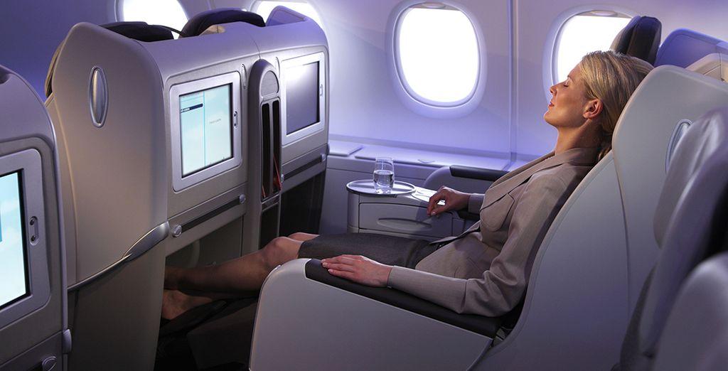 Vous voyagerez dnas le confort absolu de la classe Business